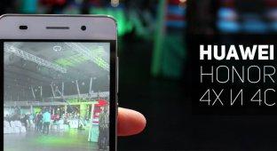 Знакомство с Huawei Honor 4X и 4C
